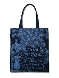 pride and prejudice navy tote bag out of print pride and prejudice navy tote bag