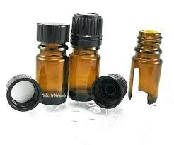 small oil bottles olive in bulk amber glass set of 5