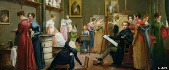 "national museum of women in arts presents royalists to r tics  adrienne marie louise grandpierre deverzy ""the studio of abel de pujol"""
