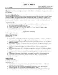 Sales Manager Job Description Resume Best Of Sales Manager Profile