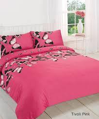 hot pink tivoli erfly duvet quilt cover pillow case bedding set double size co uk kitchen home