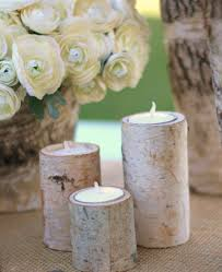 ... Attractive Accessories For Table Centerpiece Decoration With Birch Bark  Candle Holders : Engaging Picture Of White ...