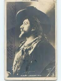 1905 rppc signed autograph ALBERT LAMBERT FILS - ACTOR FROM FRANCE HM1293 /  HipPostcard
