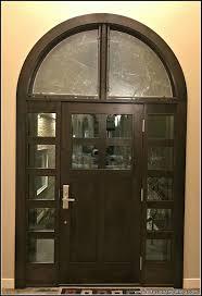 custom cast glass front door panels