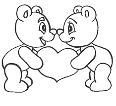 Small Picture Love coloring pages teddy bear in love ColoringStar