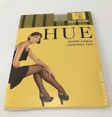 Hue Control Top Tights Size Chart Details About Hue Sheer Cable Hosiery Cream Size 2