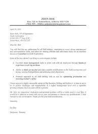Oil Field Cover Letter Sample Cando Career Coaching