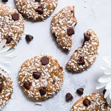 coconut protein cookies with almond
