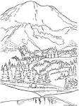 Картинки раскраски гора