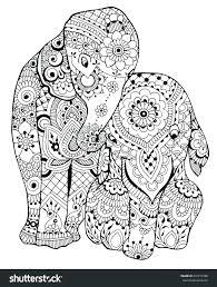 Elephant Color Page Elephant Color Pages Print Lion Face Coloring