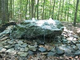 rock fountain bubbling garden ideas
