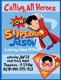 Superhero Birthday Party Invitations Templates Free Home Party Ideas