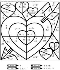 Small Picture math coloring pages 3rd grade Add ten Valentine math game from