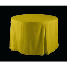 fitted table covers elastic round yellow polyester inch tablecloth vinyl tablecloths