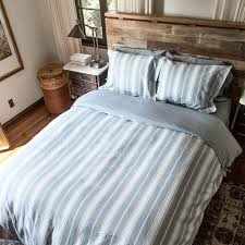 linen striped duvet cover set for full and queen beds