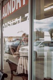 Laundromat furniture Huebsch Girl Woman Window Home Furniture Room Door Laundry Laundromat Interior Design Design Display Window Window Covering The Midcentury Modernist Free Images Girl Woman Home Furniture Room Door Laundry