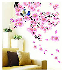 Small Picture PINDIA 3D DCOR ATUMA FLOWER DESIGN WALL STICKER Amazonin Home