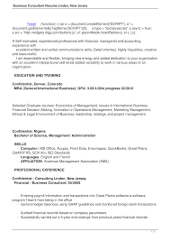 Consulting Resume Templates Business Consultant Resume Templates At