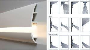 led baseboard lighting. Manufactured To Easily Accept LED Lighting, Calabasas Molding Yields Even And Balanced Light Dispersion Led Baseboard Lighting \