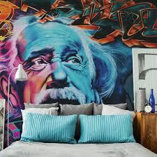 liberty bedroom wall mural: einstein street art wall mural screen shot    at  pm x