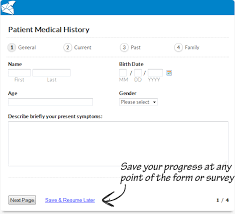 Allow Users To Save Resume Progress With Online Forms Surveys