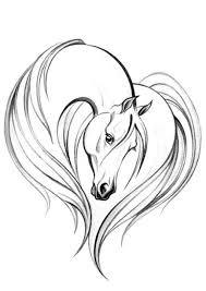 Horse Tattoo Ornament Tatoo Tetování Koně Koně A Kresby