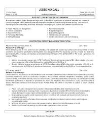Management Resume Examples New Construction Manager Resume Sample Management Swarnimabharathorg
