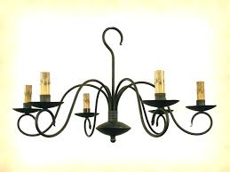 electric candle chandelier wrought iron candle chandeliers wrought