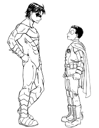 nightwing free coloring page disney superheros pages at
