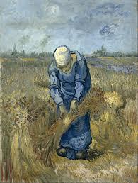 vincent van gogh peasant woman binding sheaves after millet