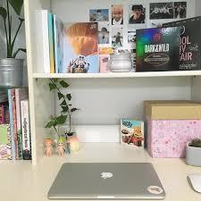 office desk space. Teen Girl Bedrooms, Small Rooms, Interior, Bts Merch, Room Goals, Office Desks, Spaces, Desk Space, Dream Rooms Space