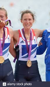 Eton Dorney, Windsor, Great Britain, 2012 London Olympic Regatta, Dorney  Lake. Eton Rowing Centre, Berkshire. Dorney Lake. GBR LW 2X Gold Medalist,  Bow. Kat COPELAND and Sophie HOSKING 12:35:57 Saturday 04/08/2012 [Mandatory