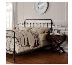 Perfect Metal Bed Queen For Your Bedroom Design: Knox Queen Metal Panel Bed  Living Spaces
