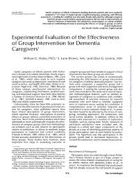Pdf Experimental Evaluation Of The Effectiveness Of Group
