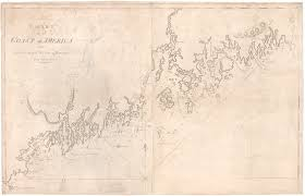 18th Century Chart Of The Maine Coast By John Norman
