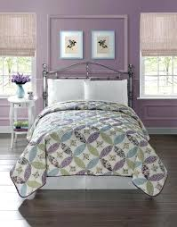 Purple Quilts And Coverlets Pretty Floral Quilt Bedspread Coverlet ... & Purple Quilts And Coverlets Pretty Floral Quilt Bedspread Coverlet Light  Weight Full Queen Size Green Blue Adamdwight.com