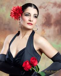 looking down flamenco dancer with roses spanish flamenco dance inspired makeup tutorial landmakeup makeup flamenco