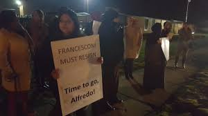 racist facebook posts prompt calls for roseville school board protestors stand outside roseville community schools building urging the removal of vice president alfredo sconi
