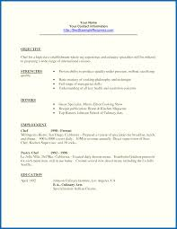 Resume Example Objective For Students Resume Internship Objective Examples Culinary Student Resume Sample 46