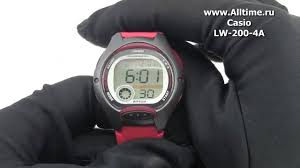 <b>Женские</b> японские наручные <b>часы Casio LW</b>-<b>200</b>-4A - YouTube