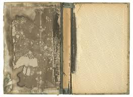 old stained inside of a book cover png by mercurycode