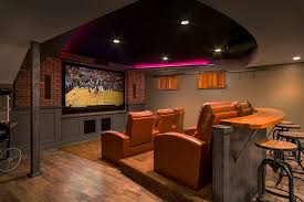 basement home theater ideas.  Ideas View In Gallery Custom Designed Bar Adds To The Appeal Of Basement Home  Theater Design CHC Throughout Basement Home Theater Ideas