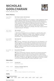 ... Nice Full Stack Developer Resume 8 Qa Analyst Resume Samples ...