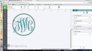 Monogram Font On Cricut Design Space How To Make A Monogram With Cricut Explore