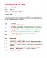 Sample Conference Schedule Template Beauteous Press Conference Template Smart Concept Mtng R 44 C 44 Scholarschair
