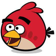 angry bird red smiling