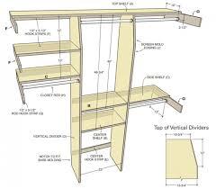 wonderful standard closet depth for your house idea