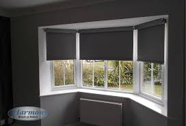 vertical blinds bay window. Wonderful Blinds Dark Grey Senses Roller Blinds With Chrome Finishes In A Bay Window To Vertical E