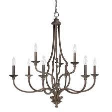 9 light chandelier capital lighting fixture company golden teak crystal with bronze accents
