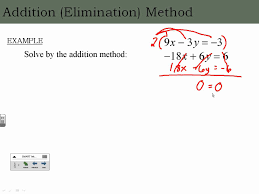 solving systems of linear equations in two variables by elimination addition